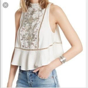 NWT Free People White Lace tank